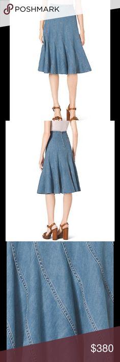 Michael Kors Denim Trumpet Skirt    Pristine Condition: Michael Kors Skirts