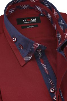 F4 Maroon Shirt | Farrabi Slim Fit | Exclusive Luxury Shirts