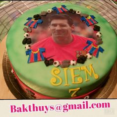 Messi cake, when soccer/football meets cake