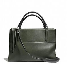 @Who What Wear - CoachThe Borough Bag In Pebbled Leather ($598) in Alpine Moss