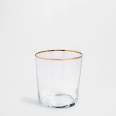gold edge glass tumbler Glassware - Tableware | Zara Home United States