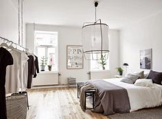 Shades of grey in the perfect Swedish apartment. Stadshem.