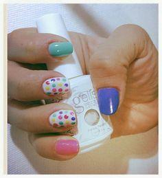 Nails #nails #candy #uñas #Gelish