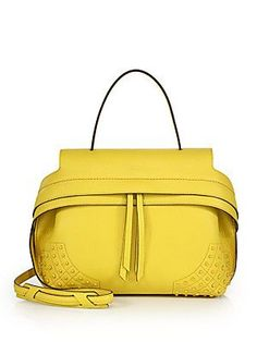 Tod's Wave Small Gommini Leather Satchel - Yellow - Size No Size