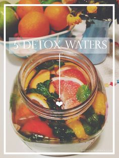 5 Detox Waters inspired by Beatrice Clay 5 Detox Water Recipes