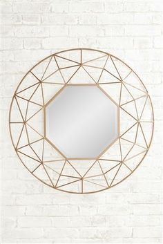 £165 Buy Large Gold Star Mirror from the Next UK online shop