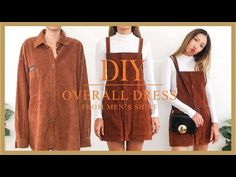 DIY Overall dress - Transform Men's shirt into Overall dress - Fall outfit idea . - DIY Overall dress – Transform Men's shirt into Overall dress – Fall outfit idea 2019 Source by - Shirt Makeover, Fall Dresses, Fall Outfits, Diy Outfits, Casual Dress Outfits, Summer Dress Outfits, Casual Summer Outfits, Party Dresses, Cute Outfits