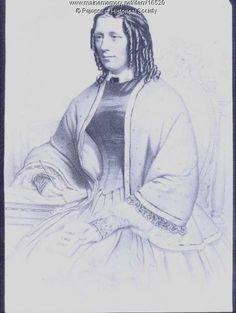 Portrait Drawing of Harriet Beecher Stowe | Stowe lived with her family in Brunswick, Maine, from 1850 to 1852 while her husband Calvin taught at Bowdoin College. While living in Brunswick, Stowe wrote her famous novel Uncle Tom's Cabin | [Item # 16520 on Maine Memory Network]