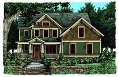 Southland Custom Homes Bakersfield Love This Model Craftsman Style House Plans Cottage