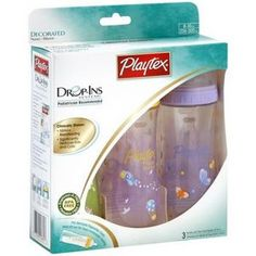 Playtex Drop-Ins Premium Decorated BPA Free Nurser Starter Set (Discontinued by Manufacturer) Toddler Bottles, Baby Bottles, Baby Life Hacks, Realistic Baby Dolls, Baby Shower Gifts For Boys, Baby Supplies, Everything Baby, Newborn Gifts, Reborn Babies