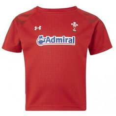 a8f000d6abd Under Armour Toddler Wales Home Rugby Shirt 2013-15 Red and White - £35.00