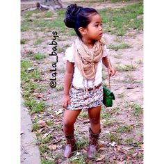 Super cute for a little girl. I would have my baby wear tights under that short skirt, tho