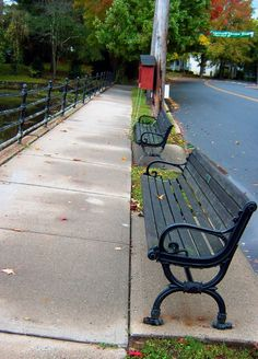 PARK BENCHES OVERLOOKING BRAINERD LAKE IN NEW JERSEY | Love's Photo Album