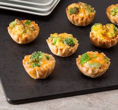 Broccoli and Cheddar Mini Phyllo Cups. Made for 2014 Sparkles Wrap Up Party at Onnie's.