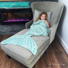 Mermaid Crochet Tail Blanket