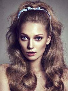 flirty '60s hair #beauty #makeup