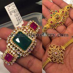 Jewellery Designs: 2 in 1 Armband Designs Baby Jewelry, Coral Jewelry, India Jewelry, Wedding Jewelry, Indian Jewellery Design, Jewelry Design, Light Weight Gold Jewellery, Diamond Choker, Diamond Wedding Bands