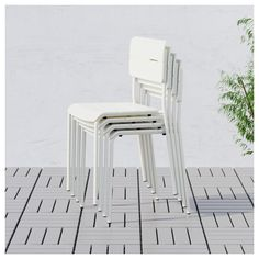 VÄDDÖ Chair, outdoor White - IKEA