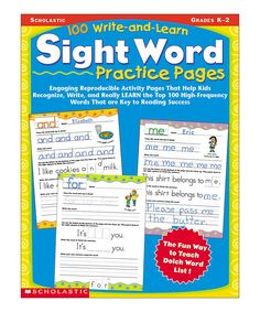 Take a look at this Write & Learn Sight Word Practice Workbook today!