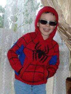 8789195d29ad Spiderman Sweater pattern by To Små Svaler