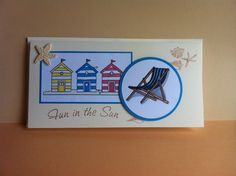 Little Claire beach huts and Clarity stamps deckchair Surfboard, Cardmaking, Birthday Cards, Beach Huts, Paper Crafts, My Favorite Things, Handmade Cards, Clarity, Stamping