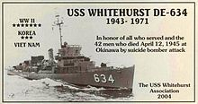 the Destroyer my grandfater was on in WWII