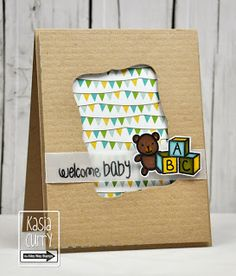 baby card, love the patterned paper behind the die cut and the vellum strip (sentiment) retro sketches : a challenge: retrosketches #86...