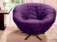 purple poltrona-14 - comfy surround chair