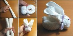 Cute Towel Bunny Tutorial  How to make -> http://www.goodshomedesign.com/cute-towel-bunny-tutorial/ - Home Design - Google+