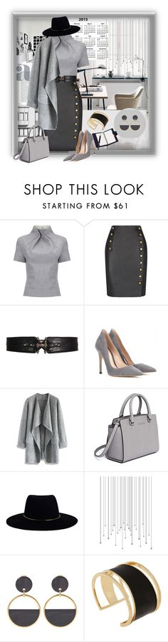 Grey & Leather in the Work place by kazza-smith on Polyvore featuring J. JS Lee, Chicwish, Rebecca Minkoff, Gianvito Rossi, MICHAEL Michael Kors, Rachel Zoe, Marni, Zimmermann and Givenchy