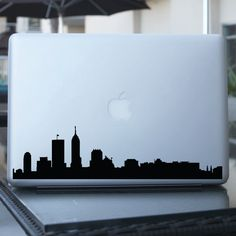 Indianapolis Skyline Decal - Vinyl Sticker - For Car, Window,  Laptop, Wall. $12.95, via Etsy.