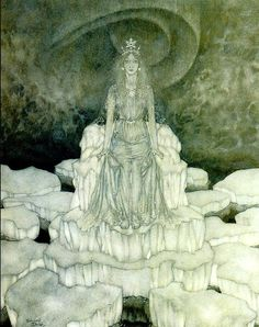 The Magic Mirror Snow Queens by Hans Christian Anderson. Illustrated by Edmund Dulac