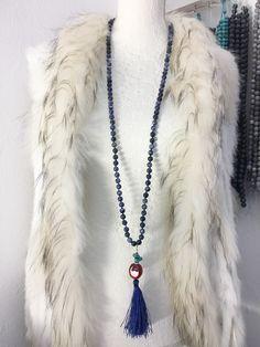 Sautoir en pierres semi précieuse Tassel Necklace, Creations, Jewelry, Fashion, Stones, Jewlery, Fashion Styles, Schmuck, Fasion