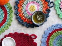 crocheted place mats! How beautiful are these?!