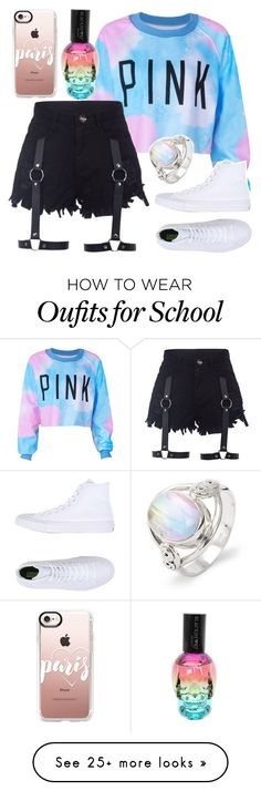 """""""Sydney Reed- School"""" by jwpixie2230 on Polyvore featuring Casetify, Converse and Hot Topic"""