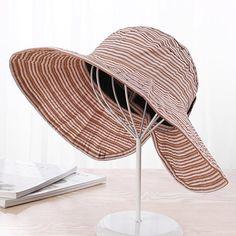 438ccae0 Women's Cotton Stripe Adjustable Sunshade Summer Bucket Cap Cloche Vintage  Vogue Formal Hat is hot sale on Newchic.