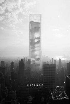 Art Et Architecture, Architecture Magazines, Architecture Visualization, Futuristic Architecture, Network Architecture, High Rise Building, Facade, Skyscrapers, Creators Project