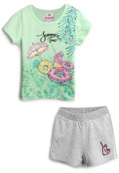 Fashion Kids, Girl Fashion, Cute Little Girls Outfits, Toddler Girl Outfits, Kawaii Accessories, Carters Baby Boys, Drawing Clothes, Summer Tshirts, Kids House