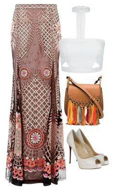 Bohemian by carolineas on Polyvore featuring polyvore, fashion, style, Temperley London, Christian Louboutin, Chloé and clothing