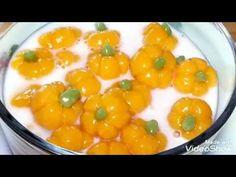 YouTube Thai Recipes, Asian Recipes, Chinese New Year Cookies, Sweet Soup, Thai Dessert, Jello, Pumpkin, Stuffed Peppers, Agar