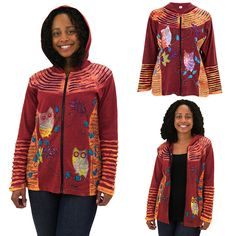 Sunset Owl Hooded Jacket at The Animal Rescue Site
