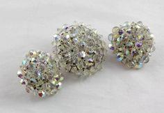 Vintage Larger Hobe Brooch & Earrings Swarovski Crystal Set by MJGTreasures on Etsy