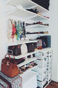 Having  I'd love to have a walk-in closet someday and organize it like this!