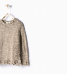 ZARA - KIDS - Crochet knit sweater