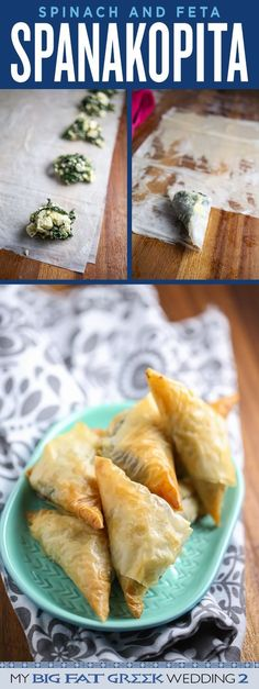 Celebrate Christmas with this flaky, buttery, garlicky Spinach and Feta Spanakopita Recipe! Click Through For The REcipe!