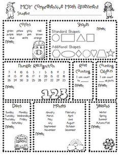 Comprehensive Assessment Tools for Kinder ~BOY, MOY, EOY