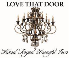 Wrought hand-forged Iron Chandelier -LoveThatDoor Designs