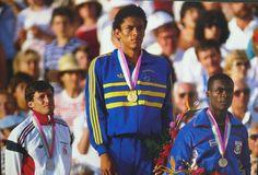 atletismo podio joaquim cruz olimpiadas los angeles 1984 (Foto: Arquivo)
