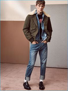 Zara Man makes a case for the denim jacket as a transitional essential for the season.