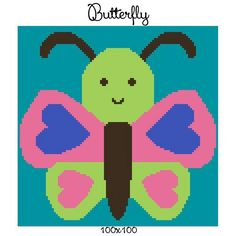 Looking for your next project? You're going to love Butterfly crochet graph 100x100 by designer CrochetInfinity.